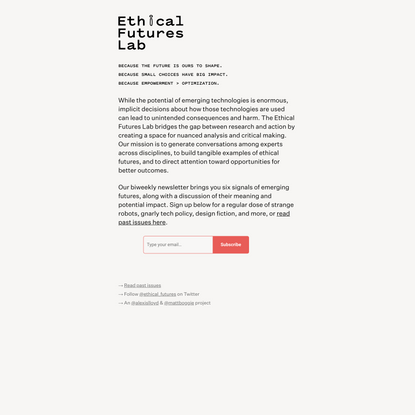 Ethical Futures Lab