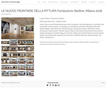 LE NUOVE FRONTIERE DELLA PITTURA Fondazione Stelline, Milano 2018