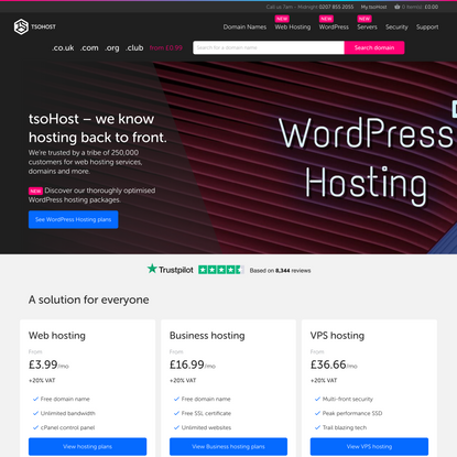 tsoHost: UK Hosting Services and Complex Server Solutions