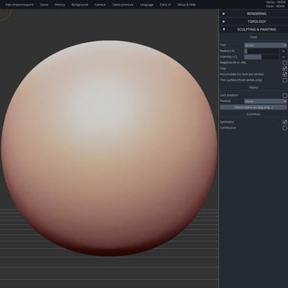 SculptGL - A WebGL sculpting app