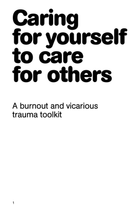 Caring for yourself to care for others, 2020