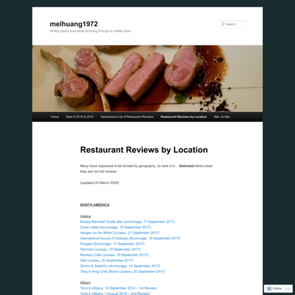 Restaurant Reviews by Location