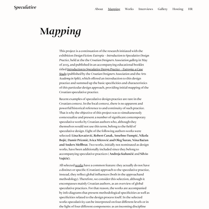 Mapping – Speculative