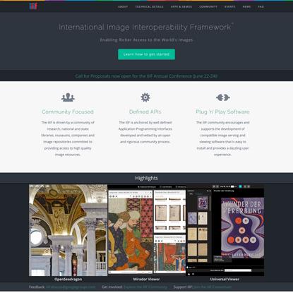 Home — IIIF   International Image Interoperability Framework