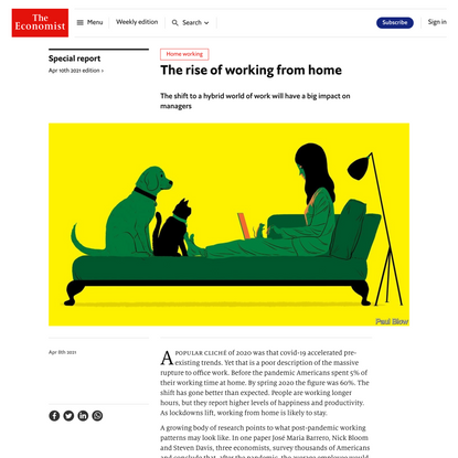 The rise of working from home
