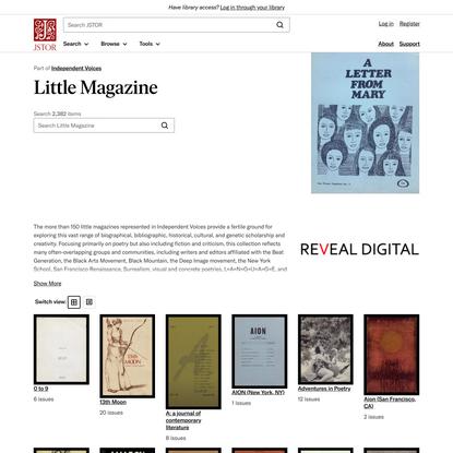 Little Magazine on JSTOR