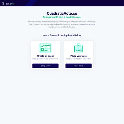 QuadraticVote.co - EZ QV Tool
