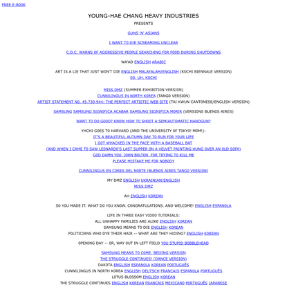 YOUNG-HAE CHANG HEAVY INDUSTRIES PRESENTS