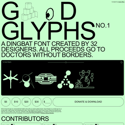 Good Glyphs