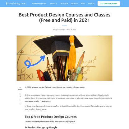 Best Product Design Courses and Classes (Free and Paid) in 2021