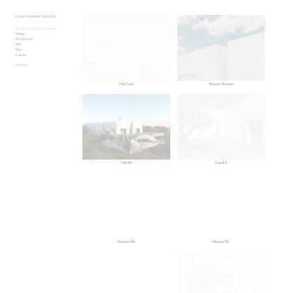 Architecture & Interior Design — STUDIO ANDREW TROTTER