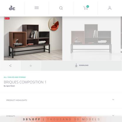 Briques Composition 1 3d model by Design Connected