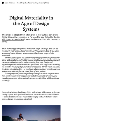 Digital Materiality in the Age of Design Systems | Notes →
