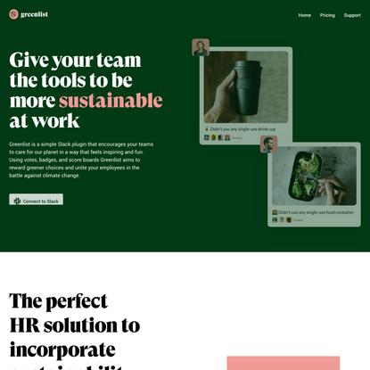 Greenlist - Green Revolution. It's a team effort