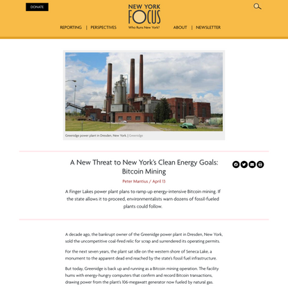 A New Threat to New York's Clean Energy Goals: Bitcoin Mining - New York Focus
