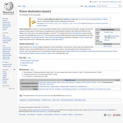 Power electronics (music) - Wikipedia