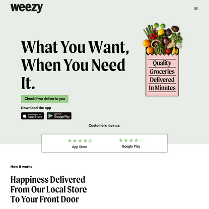 The 15-minute Supermarket | Weezy | UK