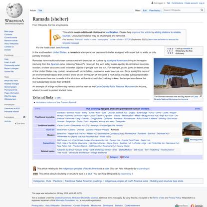 Ramada (shelter) - Wikipedia