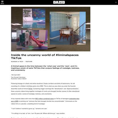 Inside the uncanny world of #liminalspaces TikTok