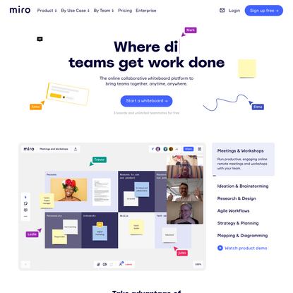 Miro | Free Online Collaborative Whiteboard Platform