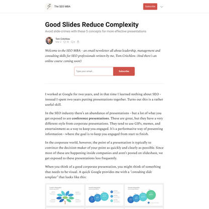 Good Slides Reduce Complexity