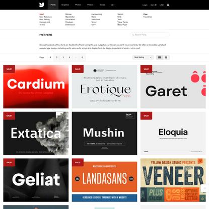 Popular Free Fonts - Most Relevance - YouWorkForThem