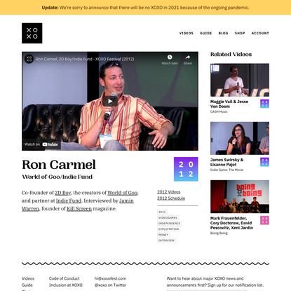 Ron Carmel · Videos · XOXO