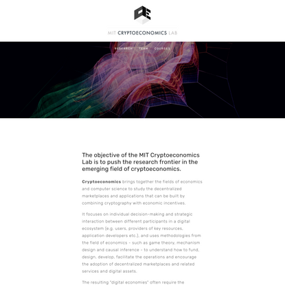 Cryptoeconomics Lab