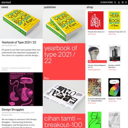Slanted.de by Slanted Publishers - Design-News, Publisher, Shop - slanted