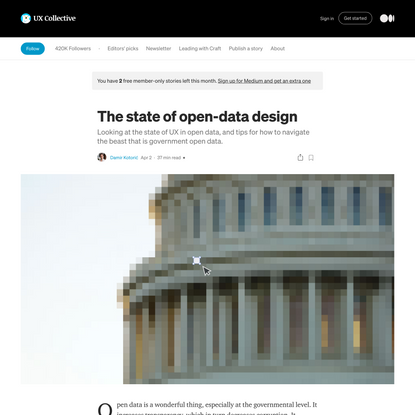 The state of open-data design