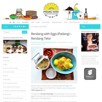 Rendang with Eggs (Padang) - Rendang Telor - Recipe from Sumatra