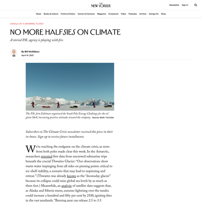 No More Halfsies on Climate