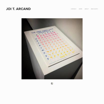 Cree Comic Sans — Joi T. Arcand