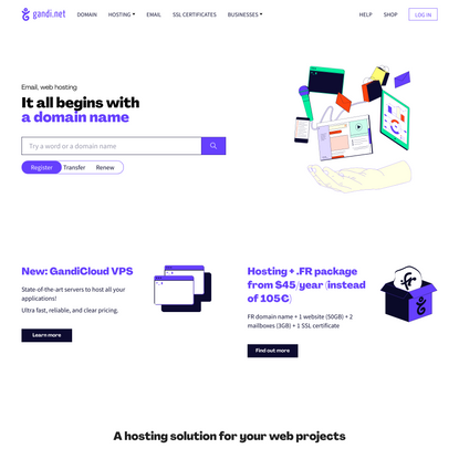 Gandi.net: Domain Names, Web Hosting, SSL Certificates