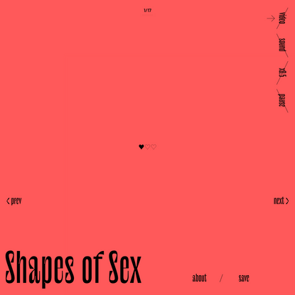 Shapes of Sex