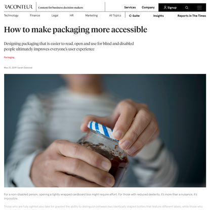Inclusive design: how to make packaging more accessible