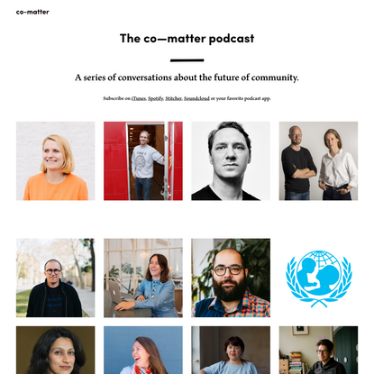 The Community Podcast by co-matter