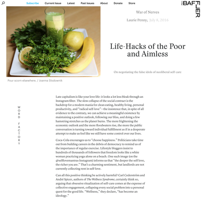 Laurie Penny   Life-Hacks of the Poor and Aimless