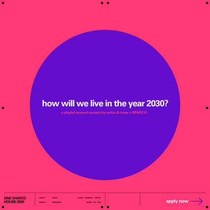 How will we live in the year 2030?