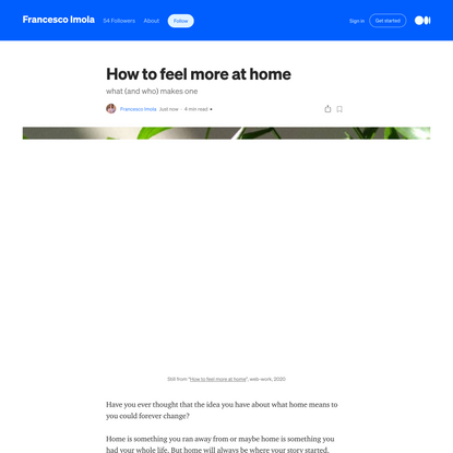 How to feel more at home: what (and who) makes one