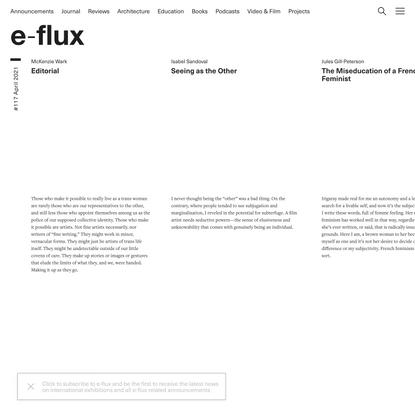 e-flux Journal #117 April 2021