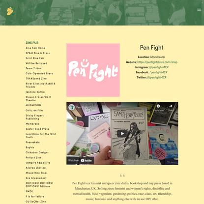 Pen Fight — Glasgow Zine Fest 2021