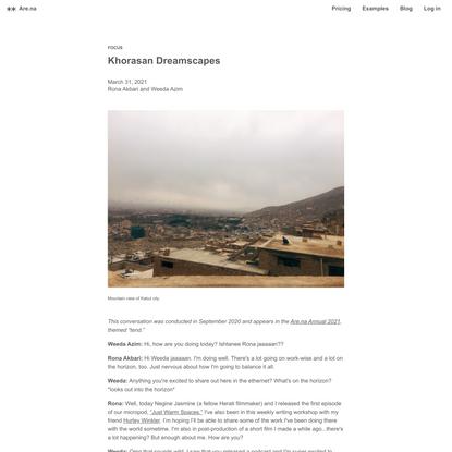 Khorasan Dreamscapes — Are.na