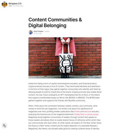 Content Communities & Digital Be… — Mirror