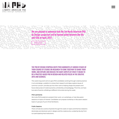 NA PhD by Design Symposium 21