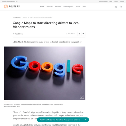 Google Maps to start directing drivers to 'eco-friendly' routes