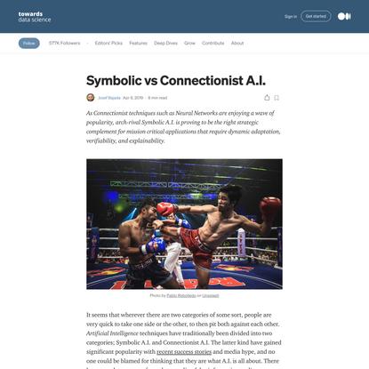 Symbolic vs Connectionist A.I.