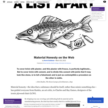 Material Honesty on the Web