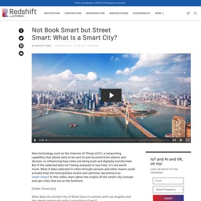 Not Book Smart but Street Smart: What Is a Smart City? [VIDEO]