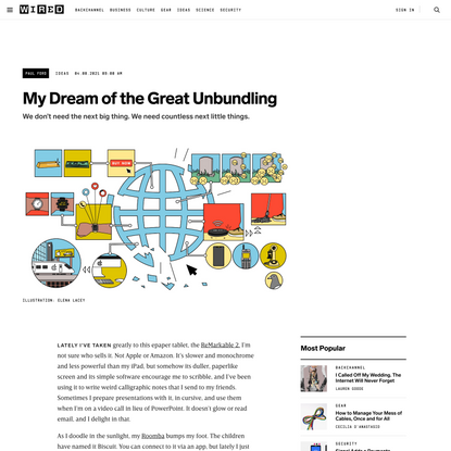My Dream of the Great Unbundling | WIRED